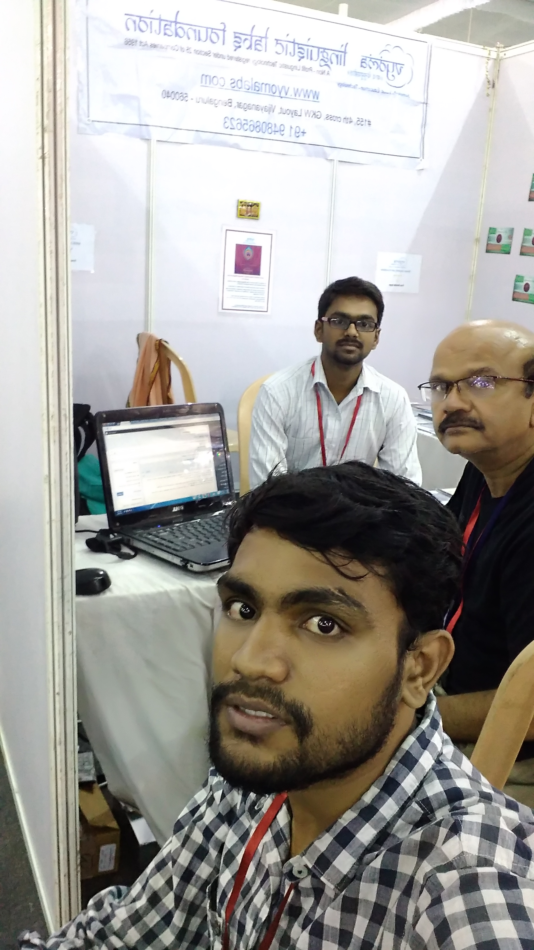 Vyoma team in Stall