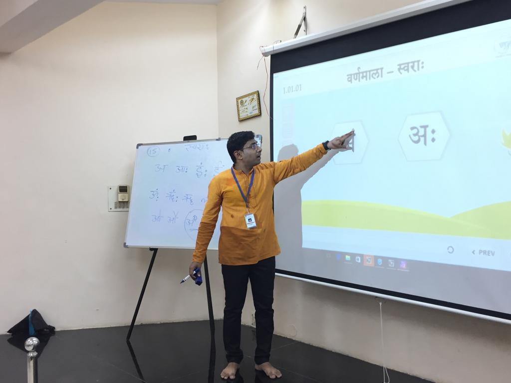 Tirupati Sanskrit students using Vyoma Products October 2018