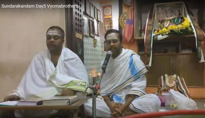 Ramayana Navaha parāyaṇaṃ and Sundarakanda Upanyasam -April 2019
